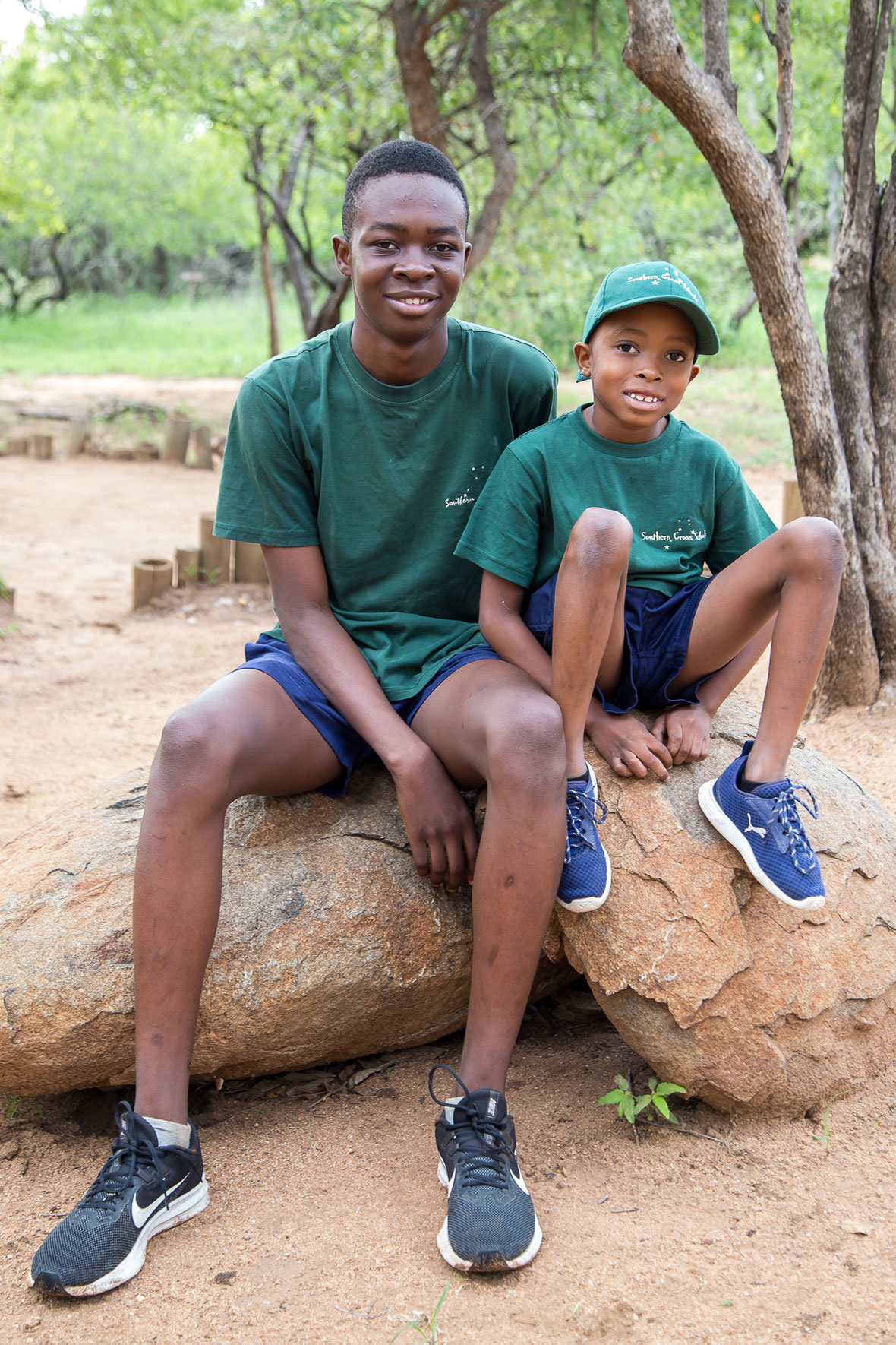 Tanda Tula - Allied and Jayden at school in the Greater Kruger